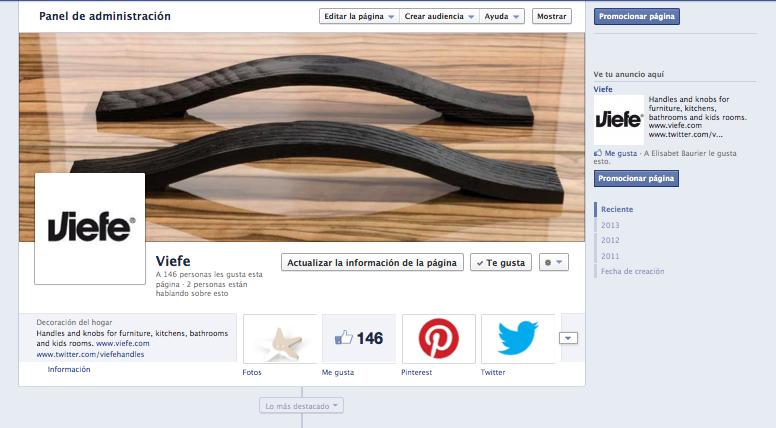 Viefe design hanles facebook. Pomos de diseño facebook.