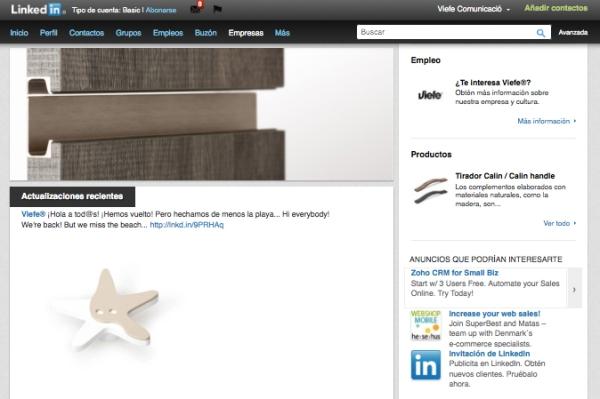 Viefe design hanles linkedin. Pomos de diseño linkedin.