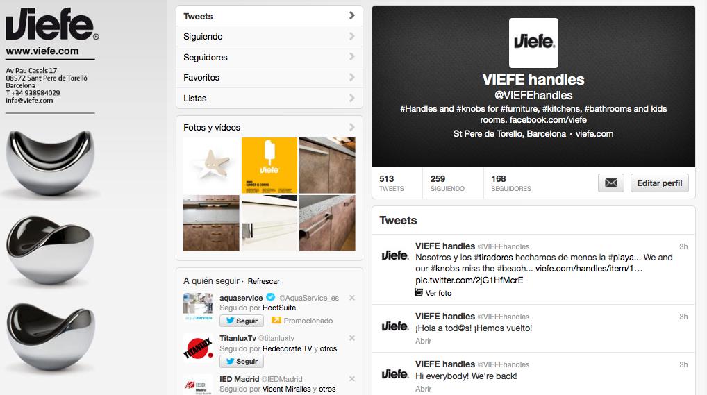 Viefe design hanles twitter. Pomos de diseño twitter.