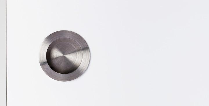 Tirador redondo radi para puertas correderas. Round handle Radi for sliding doors