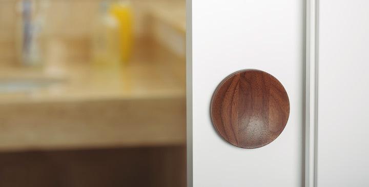 Tirador Conca Viefe puerta corredera. Viefe Conca handle for sliding door.