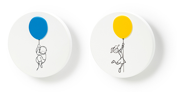 Knobs for kidsrooms. Pomos para habitaciones infantiles. Vabau by Viefe.