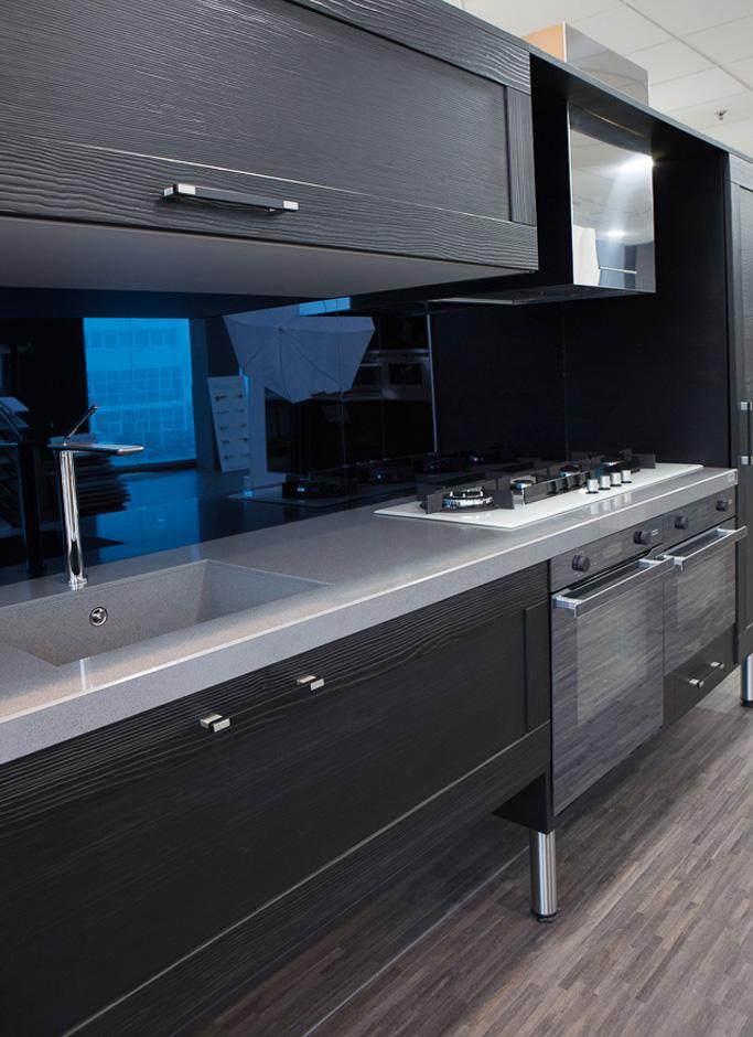Tirador Rec para cocinas oscuras. Rec handle for dark kitchens.