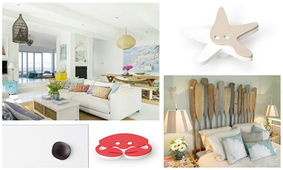 decoración con pomos y tiradores para casas de verano. decoration with knobs and handles for summer houses