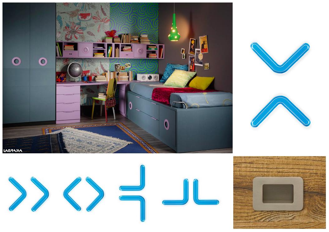 Handles for juvenile bedrooms. Tiradores para habitaciones infantiles.