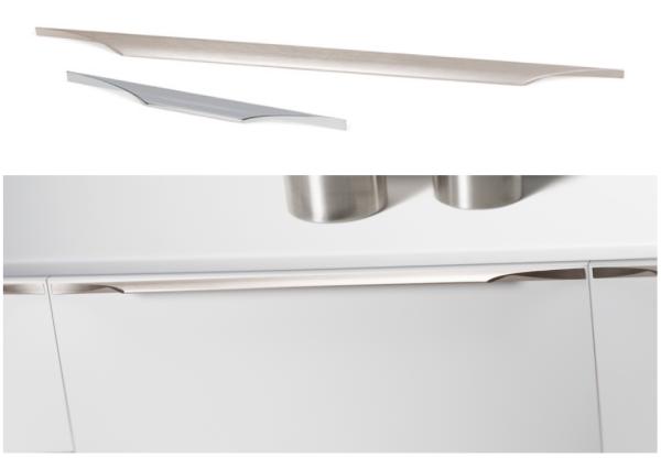 Aluminium handle Brikk by Viefe. Tirador de aluminio.