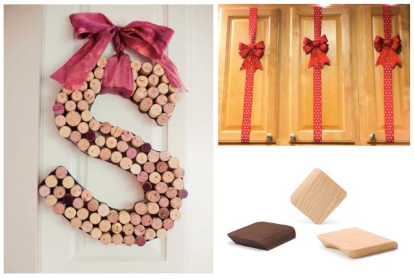 Christmas decoration doors, knobs, handles. Decoración Navidad, puertas, pomos, tiradores.