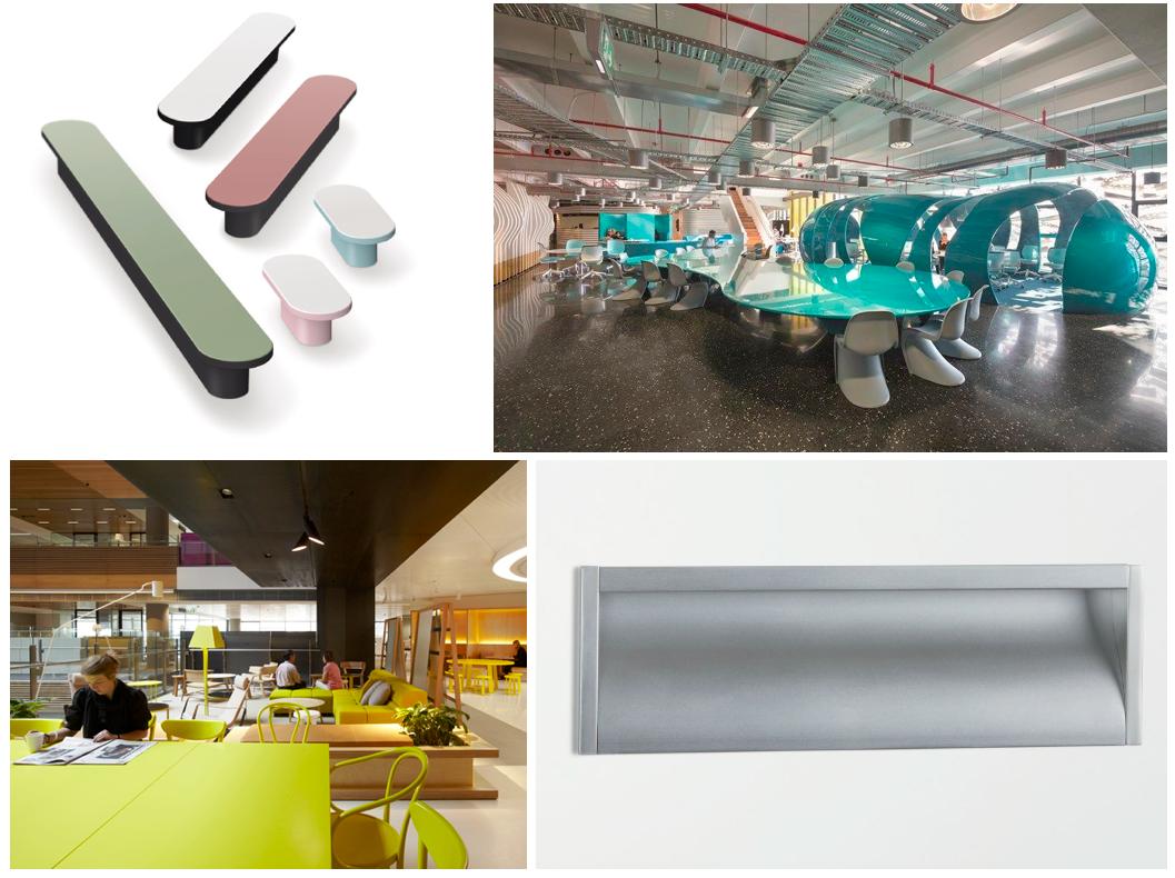 Interior design offices knobs and handles.Interiorismo oficinas pomos y tiradores. By Viefe.