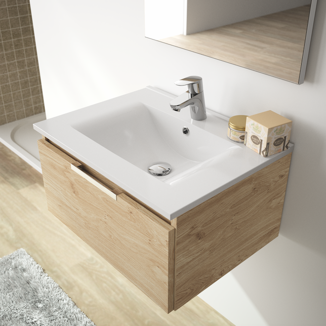 Tirador para muebles de baño Dua, de Viefe. Dua, handle for bathrooms by Viefe