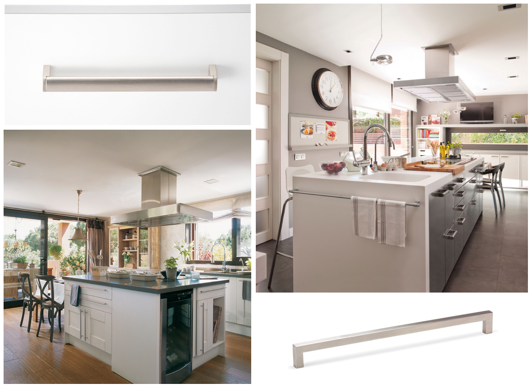 Tiradores para islas de cocina, de Viefe. Handles for central worktop of kitchens, by Viefe.